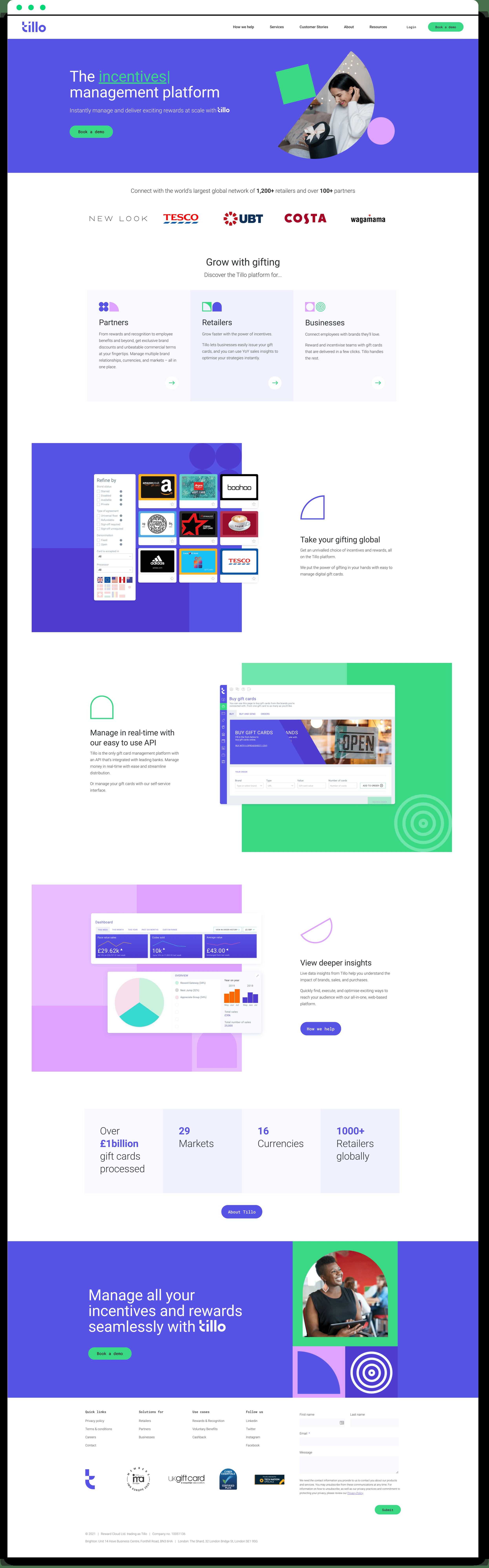 Tillo homepage