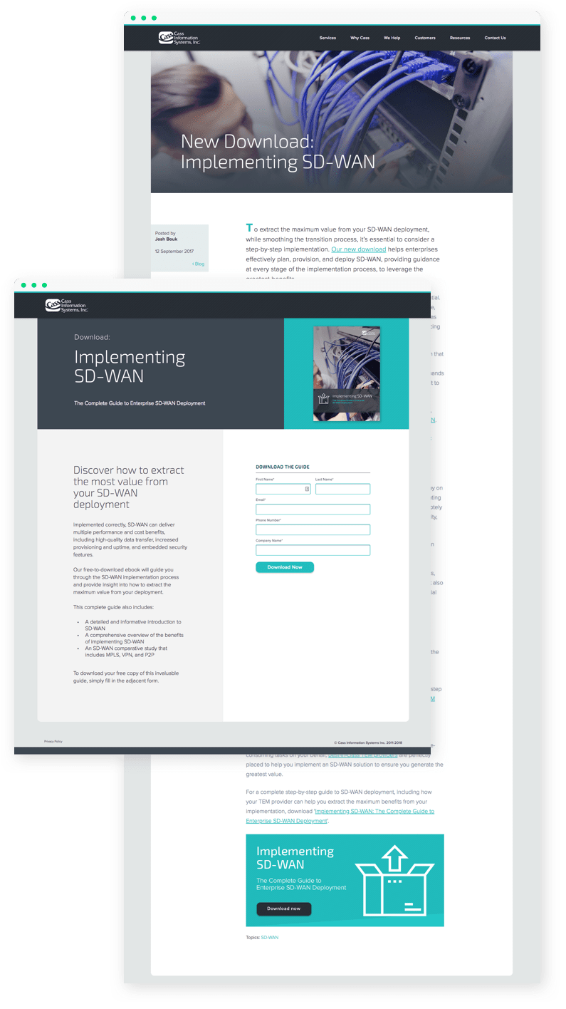 cass blog post and landing page